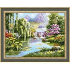 """""""Озеро желаний"""" (маленький) - набор для вышивания крестом"""