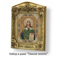 Набор в раме с бисером - икона - Св. Наталья