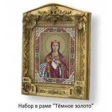 Набор в раме с бисером - икона - Св. Варвара