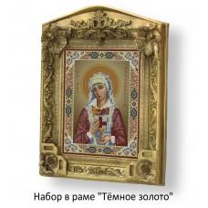 Набор в раме с бисером - икона - Св. Аполлинария