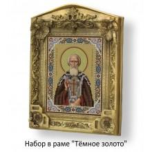 Набор в раме с бисером - икона - Св. Пр. Сергий Радонежский