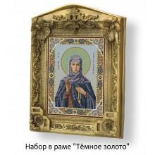 Набор в раме с бисером - икона - Св. Ангелина