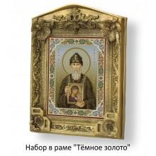 Набор в раме с бисером - икона - Св. Серафим Вырицкий