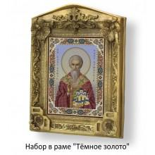 Набор в раме с бисером - икона - Св. князь Олег Брянский