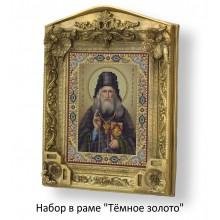 Набор в раме с бисером - икона - Св. Прп. Лев Оптинский