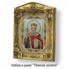 Набор в раме с бисером - икона - Св. князь Владимир