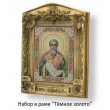Набор в раме с бисером - икона - Св. преп. Евгений.