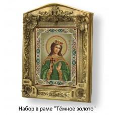 Набор в раме с бисером - икона - Св. мч. Алла