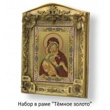 Набор в раме с бисером - Владимирская икона богородицы