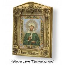 Набор в раме с бисером - икона - Св. Матрона Московская