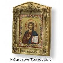 Набор в раме с бисером - икона - Иисус Христос