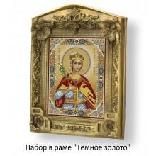 Набор в раме с бисером - икона - Св. мч. Екатерина