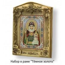 Набор в раме с бисером - икона - Св. равноап. княгиня Ольга